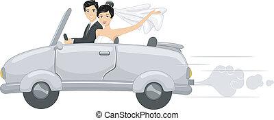 新娘, 汽車