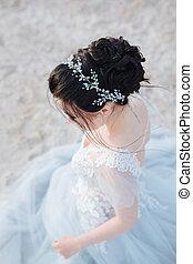 新娘, 發型, 頂視圖