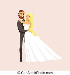 新婚者, それぞれ, 現場, 抱き合う, 他, 保有物, 結婚披露宴