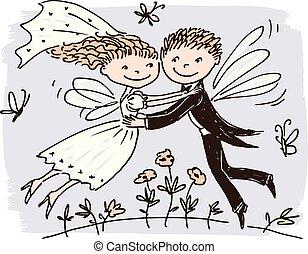新婚者, 妖精