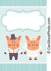 新婚者, piggies
