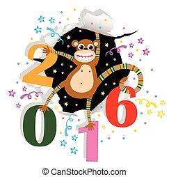 新年おめでとう, ∥で∥, サル