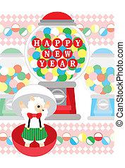 新年おめでとう, カプセル, おもちゃ, sheep