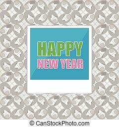 新年おめでとう, レタリング, 挨拶, card., 写真, frame., ベクトル, イラスト