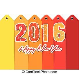 新年おめでとう, 2016, テキスト, デザイン