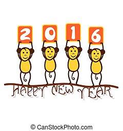 新年おめでとう, 2016, 挨拶, デザイン