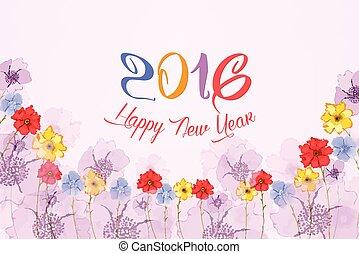 新年おめでとう, 2016., 水彩画