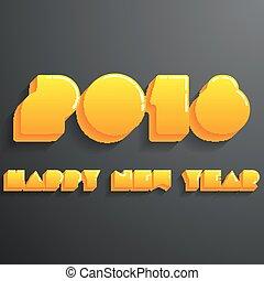 新年おめでとう, 2018, カード, 現代, デザイン, テンプレート