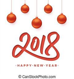 新年おめでとう, 2018, グリーティングカード, ∥で∥, ペーパー, 切口