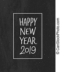 新年おめでとう, 2019, クレヨン画, スタイル, カード