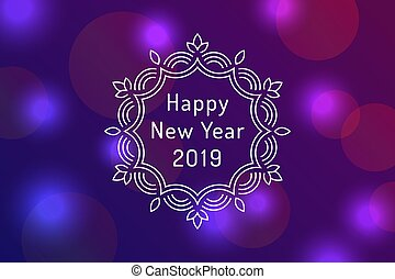 新年おめでとう, 2019, グリーティングカード, デザイン