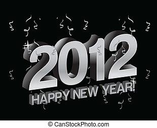 新年快樂, 2012, 由于, 五彩紙屑