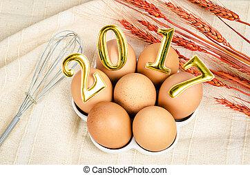 新年, そして, eggs.