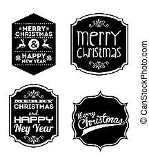 新年, クリスマス, 幸せ, 陽気