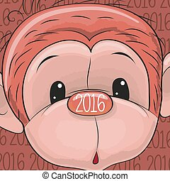 新年, サル
