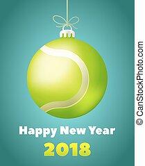 新年, テニスボール, ∥ために∥, 年, の, ∥, 犬