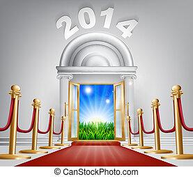 新年, ドア, 2014