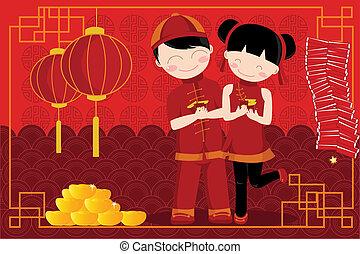 新年, 中国語, 祝福