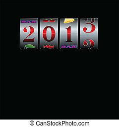 新年, 在中, 狭缝机器