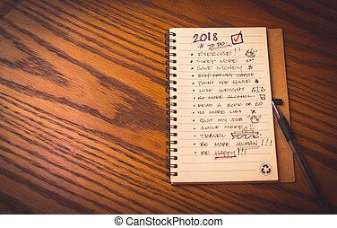 新年, 決断, リスト