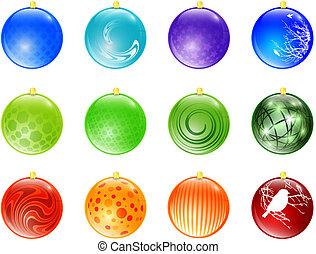 新年, 球, 玩具, 彙整