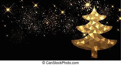新年, 背景, 由于, 聖誕節, 樹。
