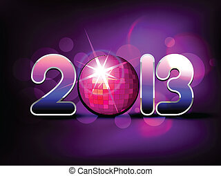新年, 设计, 创造性, 开心