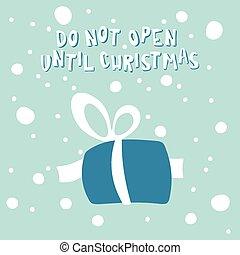 新年, 賀卡, 由于, a, 圖片, ......的, 聖誕節, gift.