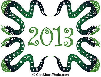 新年, 2013., ヘビ
