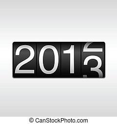 新年, 2013, 走行距離計