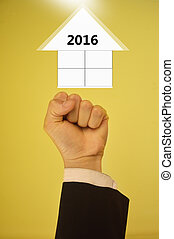 新年, 2016, ビジネス 概念