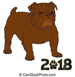 新年, 2018, 犬