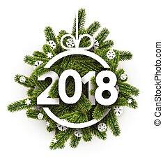 新年, 2018, card.
