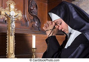 新手, 在, 禱告