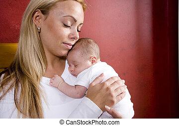新生, 保有物, 母, 赤ん坊, 動揺 椅子