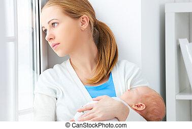 新生, 優しい抱擁, 赤ん坊, 母