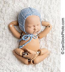新生, 写真, 練習, おもちゃ, 赤ん坊