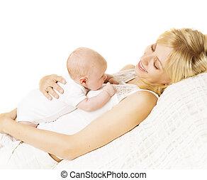 新生, 幼児, お母さん, 母, 生まれる, 子を抱く, 赤ん坊, 新しい子供