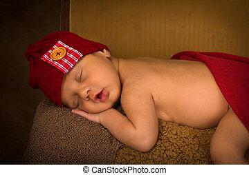 新生, 混合された 競争, 赤ん坊, 睡眠