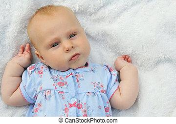 新生, 甘い, 女の子, chubby, 赤ん坊