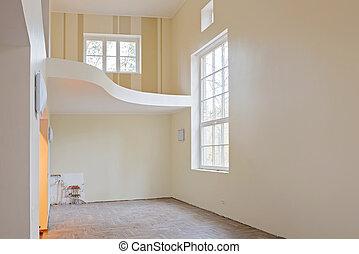 新的家, 建設, 內部, 客廳
