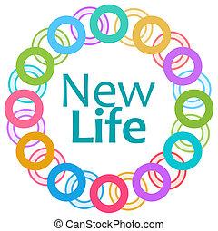 新的生活, 鮮艷, 戒指, 圓