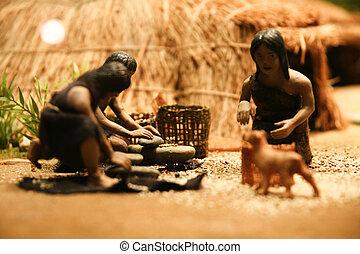 新石器時代, 韓国, ハンター, モデル, 南
