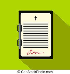 新約聖書, 平ら, 手紙, アイコン
