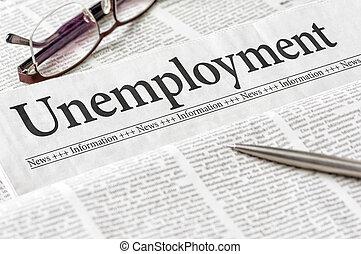 新聞見出し, 失業