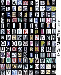 新聞, アルファベット, 場合, 上部
