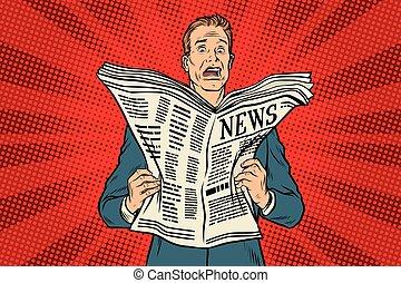 新聞, ニュース, ひどく