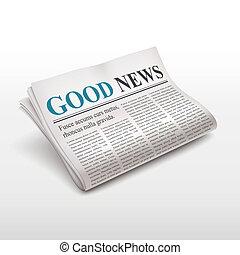 新聞, ニュース, よい, 言葉
