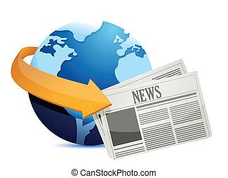 新聞, 全球, 大約, 世界