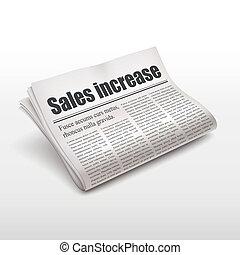 新聞, 言葉, 売上高が増加する